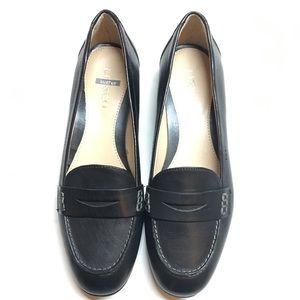 Liz&Co black leather loafers 7M Women's slip ons